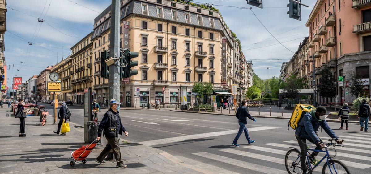 Corso Buenos Aires in central Milan. Photograph: Carlo Cozzoli/REX/Shutterstock - The Guardian